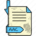 aac, document, file, format icon