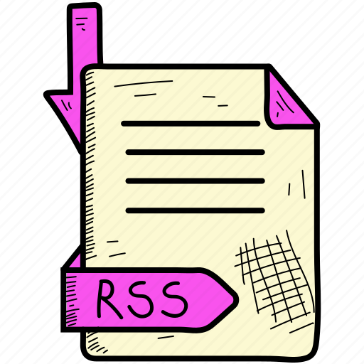 document, file, format, rss icon