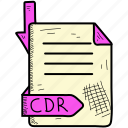 cdr, document, file, format icon