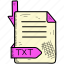 document, file, format, tex icon
