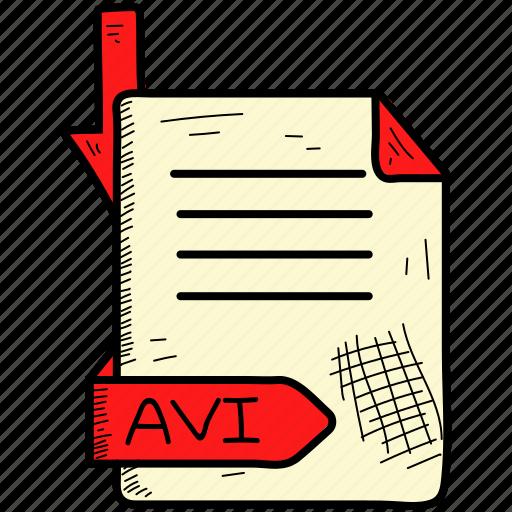 avi, file, format icon
