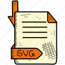 document, file, format, svg