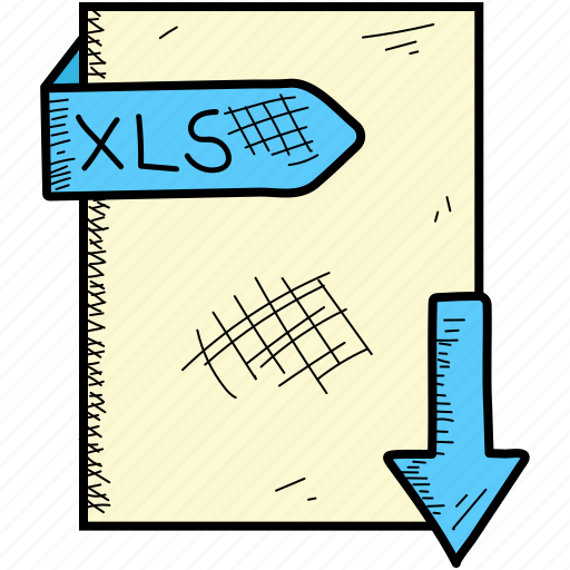 document, file, format, xls icon