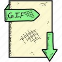 document, file, format, gif