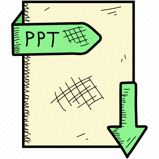 document, file, format, ppt icon