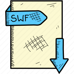 document, file, format, swf icon