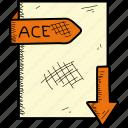 ace, document, file, format