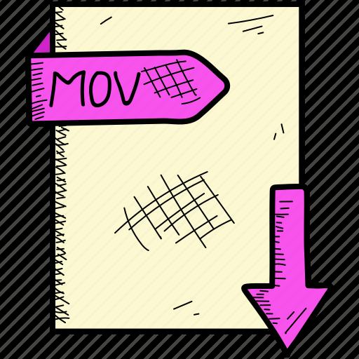 document, file, mov icon
