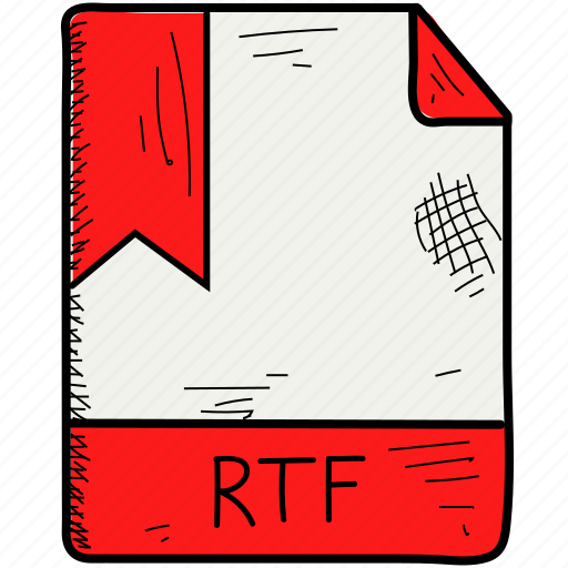 extention, file, format, rtf icon
