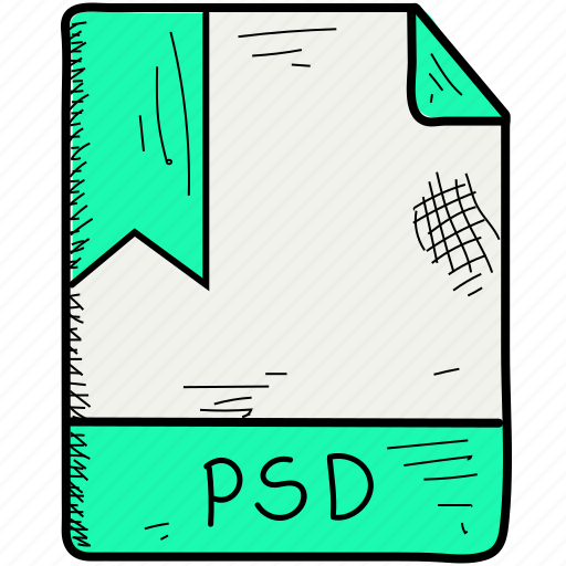 extention, file, format, psd icon