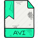avi, file, format icon