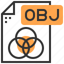 application, data, document, file, label, obj, type icon