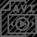 file, avi, video, vdo, media icon
