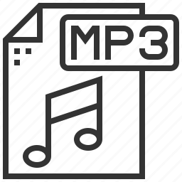 data, document, extension, file, format, mp3, type icon
