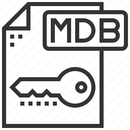 file, format, mdb, type icon