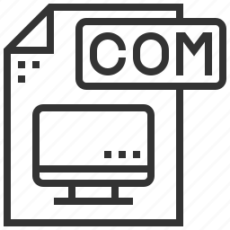 com, document, extension, file, type icon