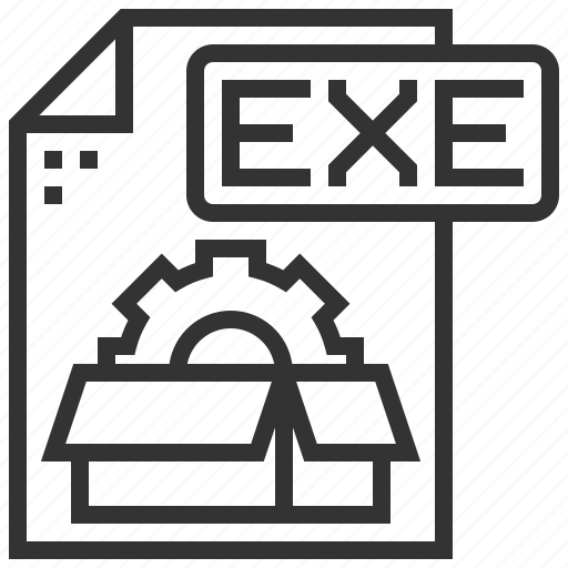 document, exe, extension, file, type icon