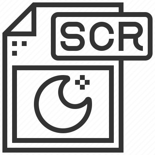 document, extension, file, scr, type icon