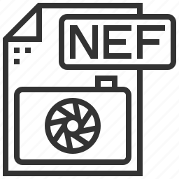 document, extension, file, nef, type icon