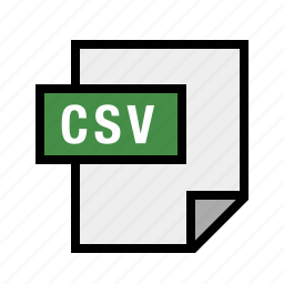 comma, csv, filetypes, separated, values icon
