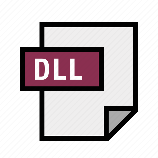 dll, dynamic, filetypes, library, linked icon