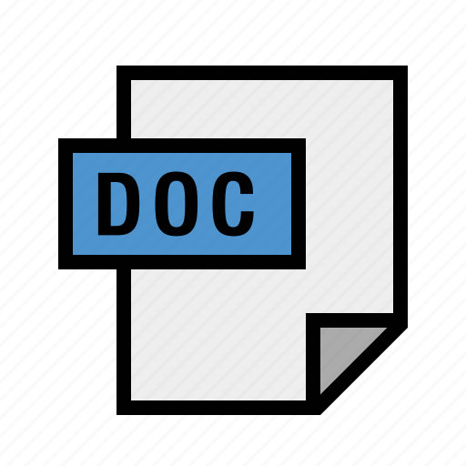 doc, filetypes, word icon