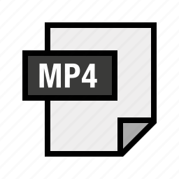 audio, filetypes, mp4, music icon