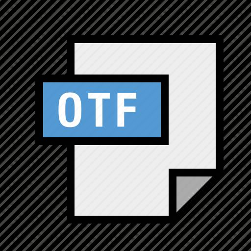 filetypes, font, opentype, otf icon