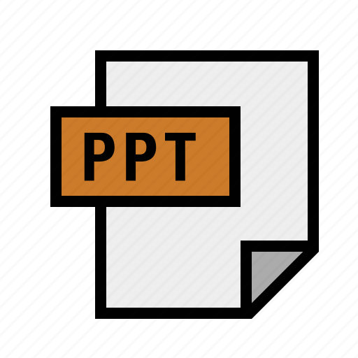 filetypes, powerpoint, ppt icon