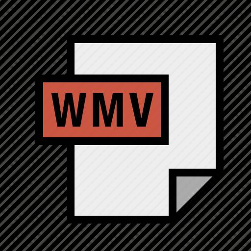 filetypes, movie, video, wmv icon
