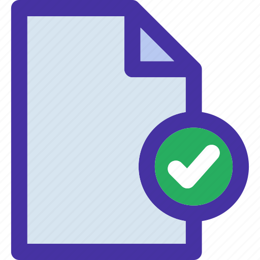 check, checked, data, document, file, format, paper icon