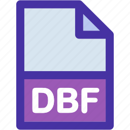 data, dbf, document, extension, file, format icon