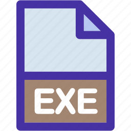 data, document, exe, extension, file, format, paper icon