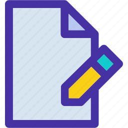 data, document, edit, file, format, pencil, text icon