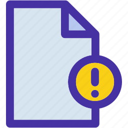 data, document, error, file, format, page, paper icon