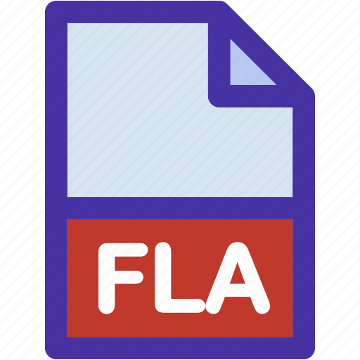 data, document, extension, file, fla, format icon