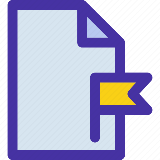 data, document, file, flagged, format, paper, tag icon