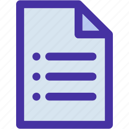 data, document, file, format, list, page icon