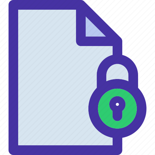 data, document, file, format, locked, storage icon