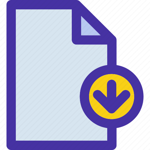 data, document, down, file, format, move icon