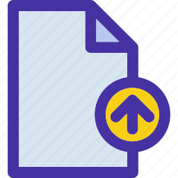 data, document, file, format, move, up icon