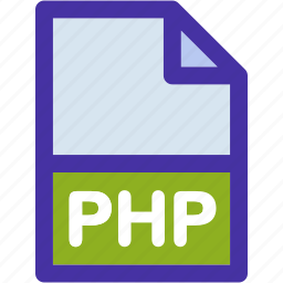code, data, document, extension, file, format, php icon