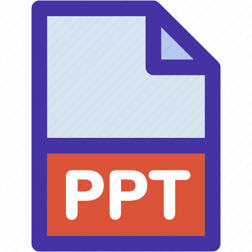 data, document, extension, file, format, powerpoint, ppt icon