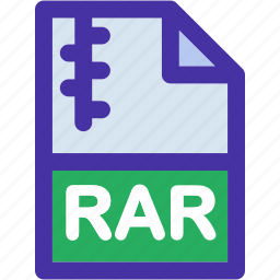 compressed, data, document, extension, file, format, rar icon