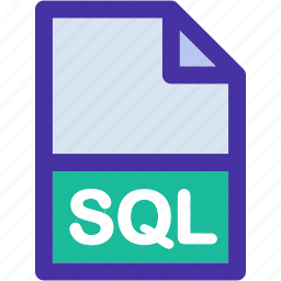 document, extension, file, format, sql icon