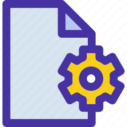 data, document, file, format, gear, options, setting icon