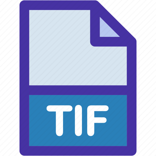 document, extension, file, format, tif, type icon