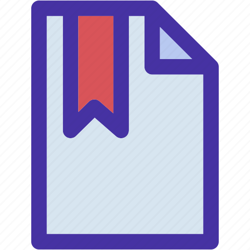 bookmark, data, document, documents, file, format, paper icon