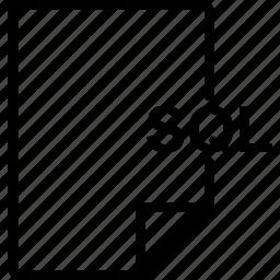 document, file, sql, type icon