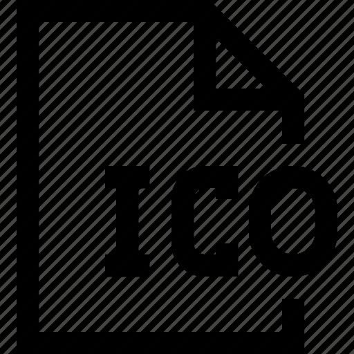 document, file, ico icon
